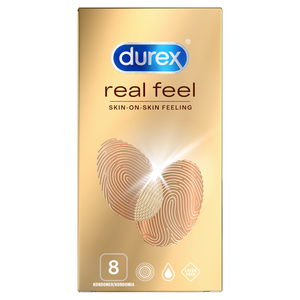 Durex Real Feel Kondomit 8 kpl.