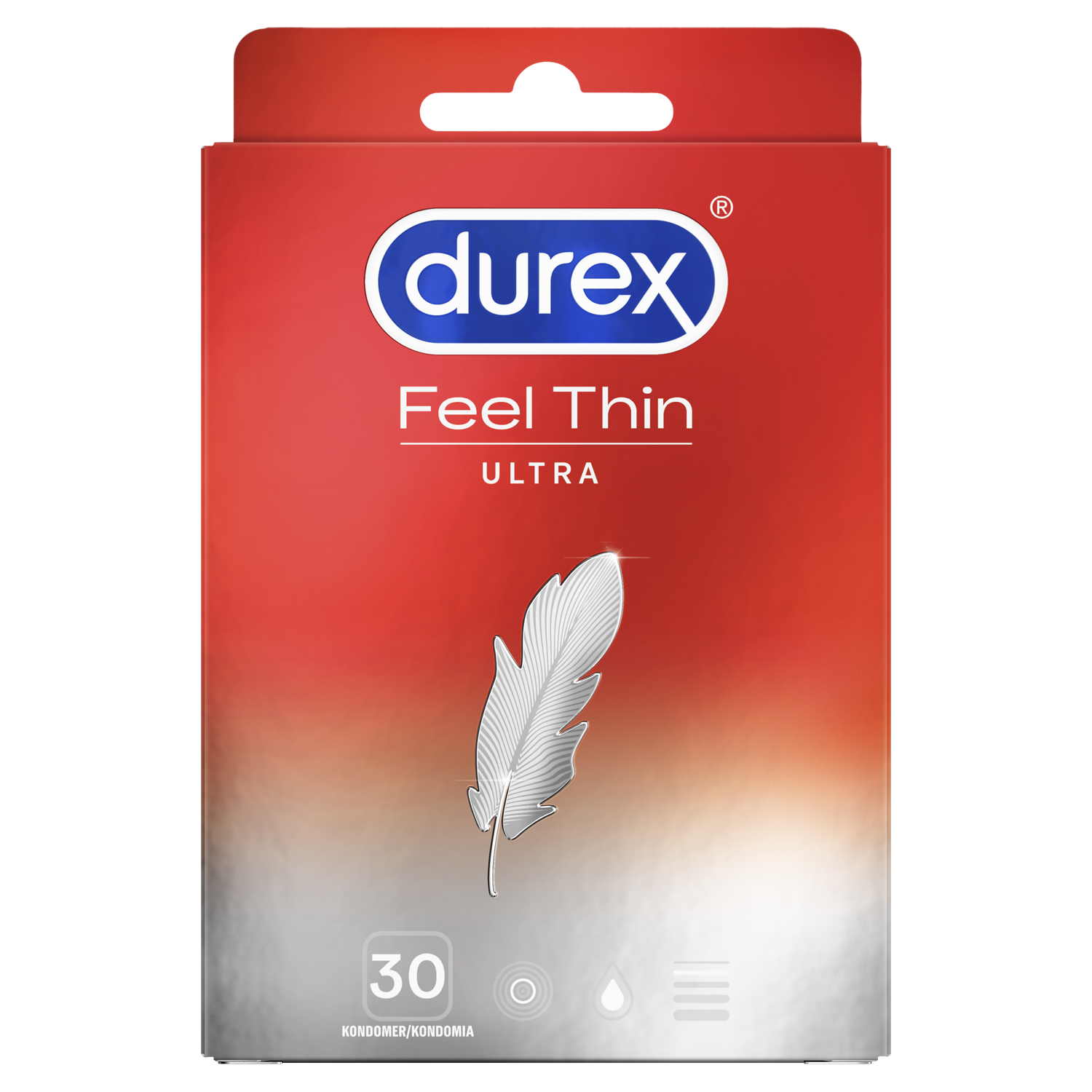 Durex Feel Ultra Thin Kondomit 30 kpl