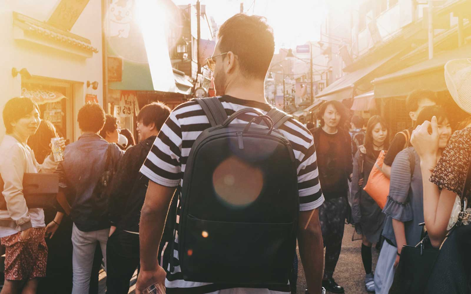 Travelling in Japan with No More Ugly Camera Backpack Black