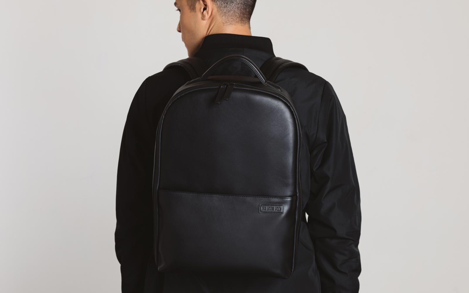 Camera Backpack | No More Ugly | Black Vegan Leather