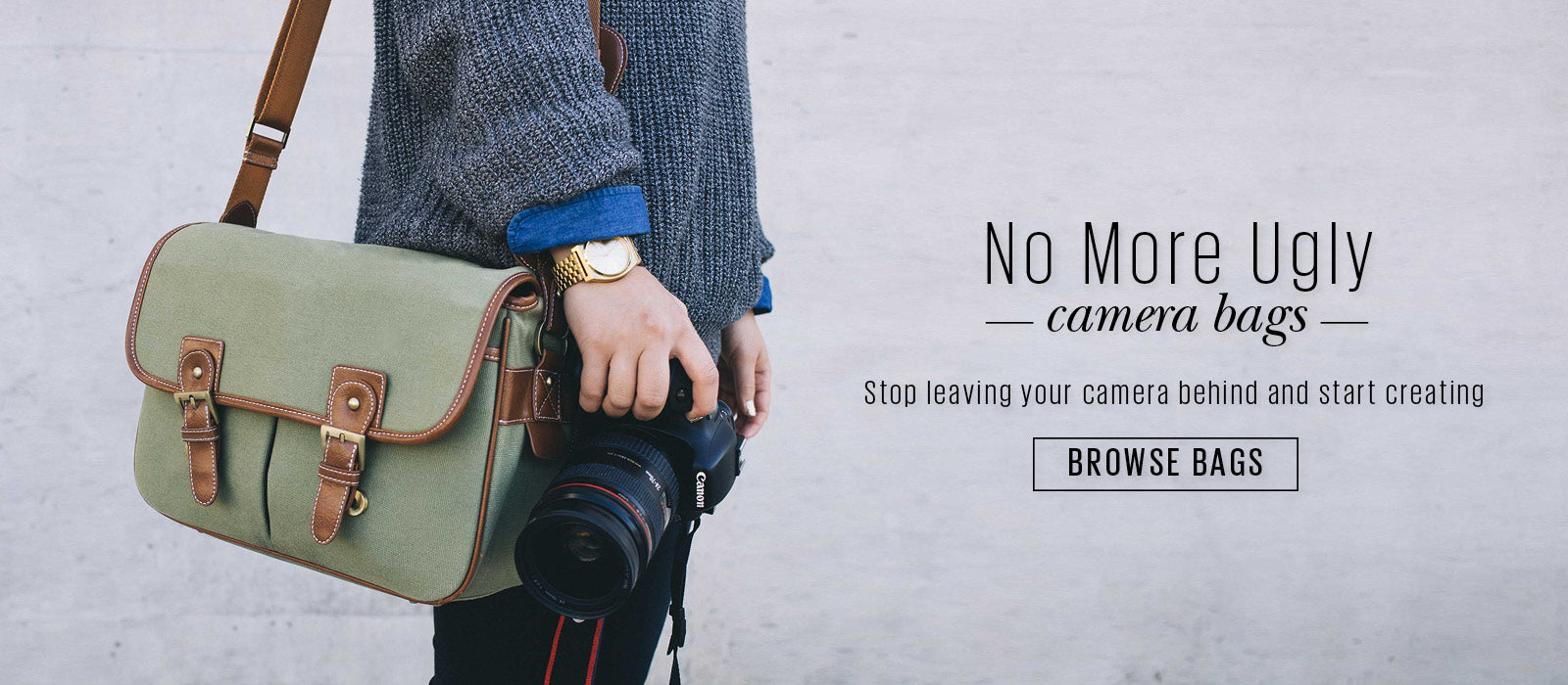No More Ugly Camera Bags | Browse Bags