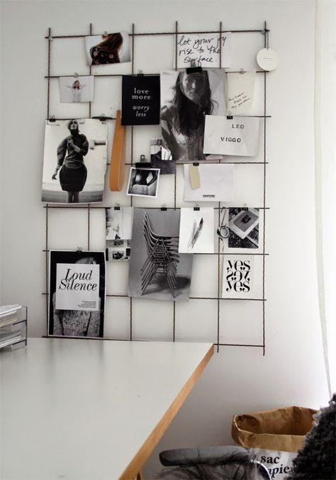 No More Ugly Blog | Clip your photos on a wire memo board