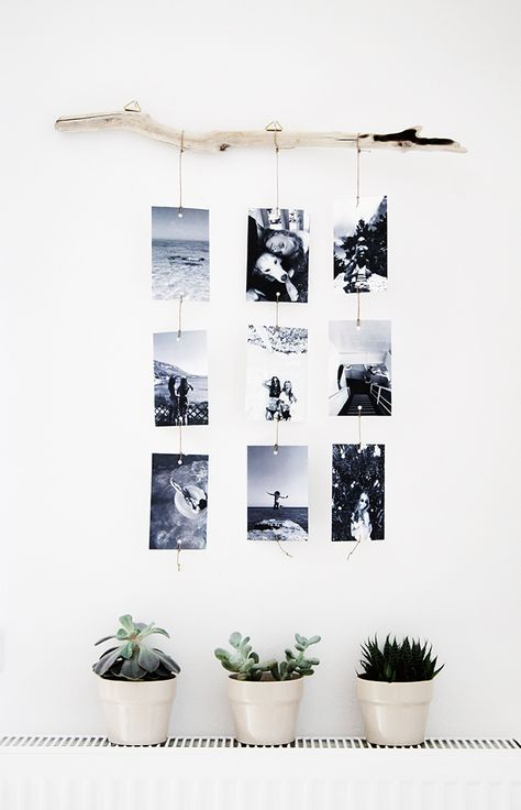 No More Ugly Blog | Hang your photos with a bar and clip
