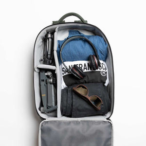 Inside camera backpack