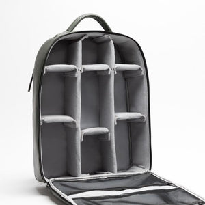 Camera backpack removable compartments