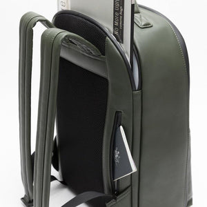 Stylish camera backpack with padded laptop and passport pocket