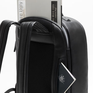 Laptop and passport pockets, camera backpack black by No More Ugly