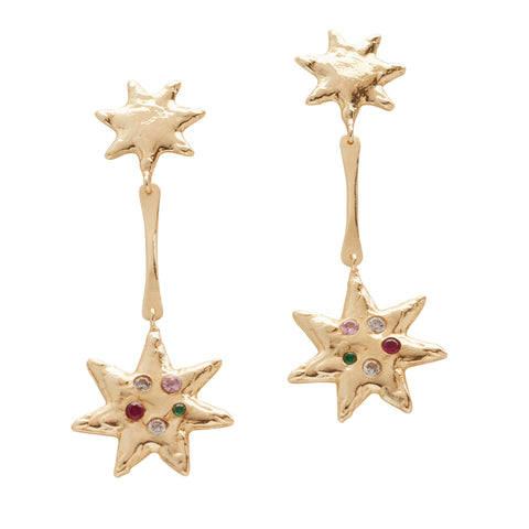 Starlight Star Drop Earring Gold