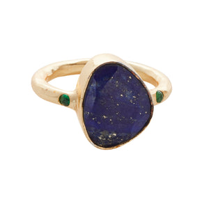 Starlight Cocktail Ring Gold Lapis