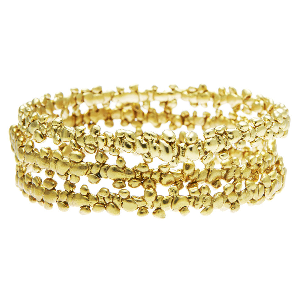 Fine Confetti Bangle Gold (stack of 3)