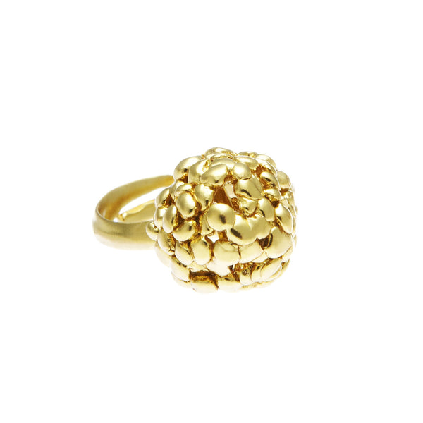 Raspberry Confetti Ring Gold