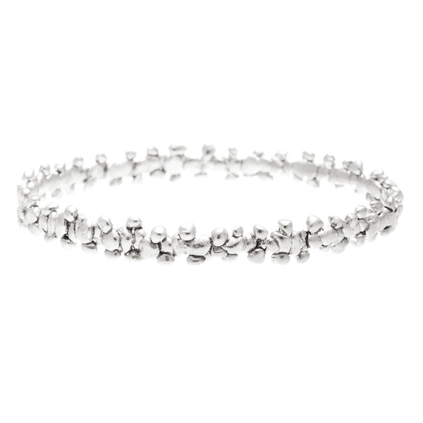 Fine Confetti Bangle Silver (1 piece)