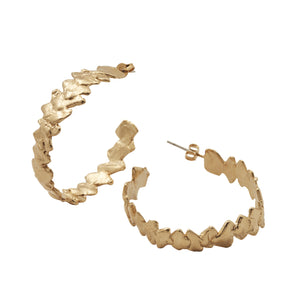 Banksia Hoop Earrings Gold