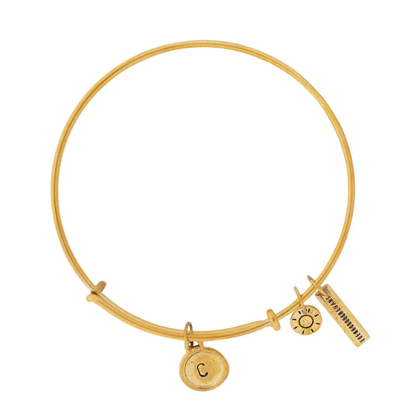 Alphabet Bangle Gold