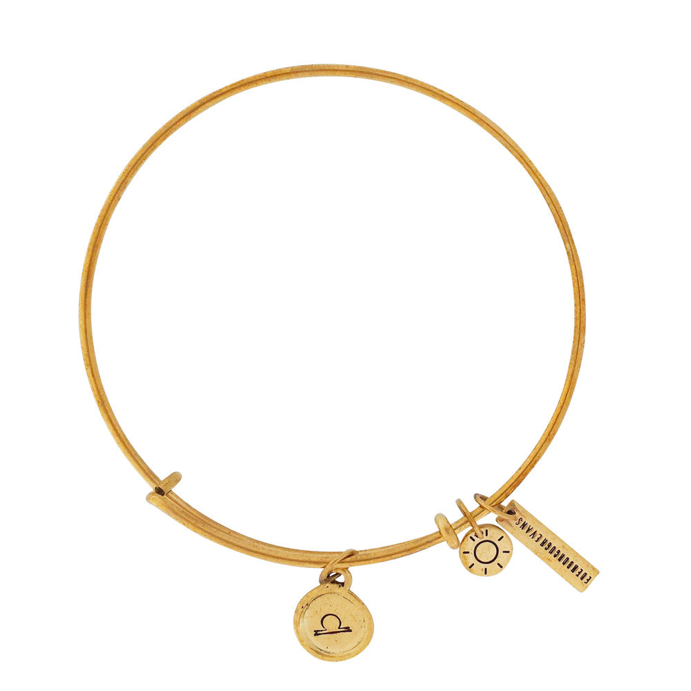 Star Sign Bangle Gold