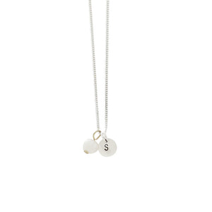 Balance + Energy (Pearl) Initial Necklace - Silver