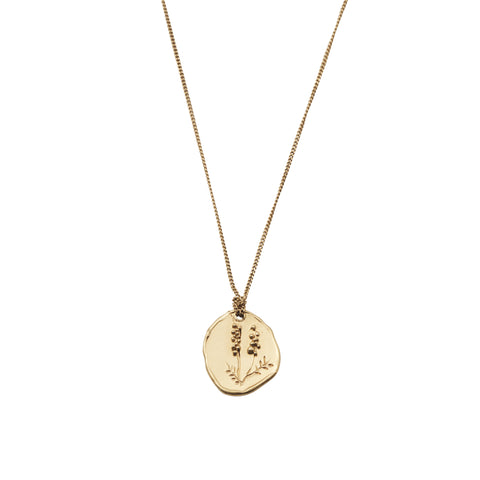 Wattle Necklace Gold