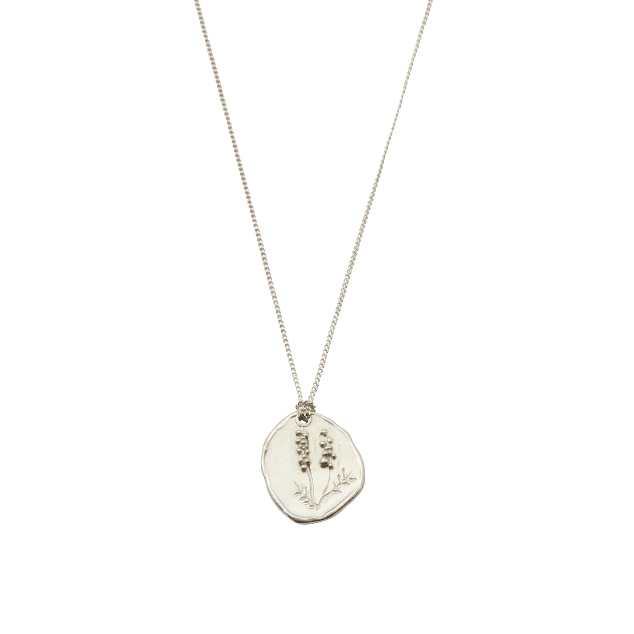 Wattle Necklace Silver