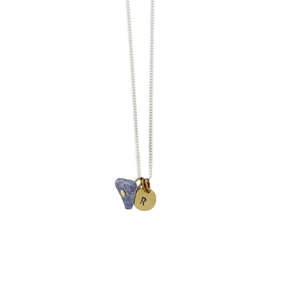 Friendship (Lapis Lazuli) Initial Necklace - Silver/Gold