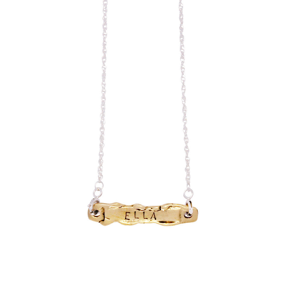Personalised Necklace - Silver and Gold