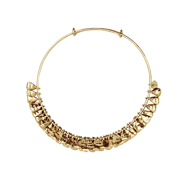 Puka Bangle Bar Gold