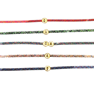 Personalised Rope Bracelet - Gold