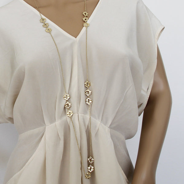 Long Hani Necklace Gold