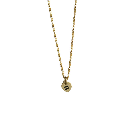 EQUALITY CHARM NECKLACE GOLD