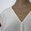 Balance + Energy (Pearl) Initial Necklace - Gold