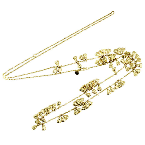 Long Puka Necklace Gold
