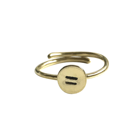 EQUALITY RING GOLD