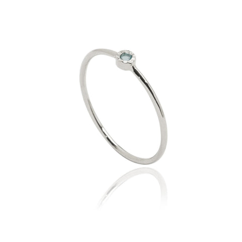 Starlight Stone Ring Silver Pale Blue