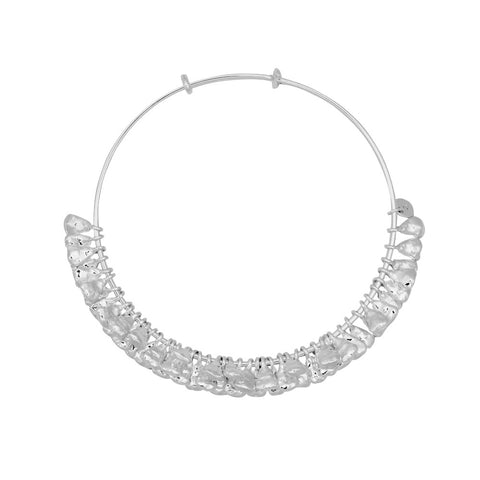 Puka Bangle Bar Silver