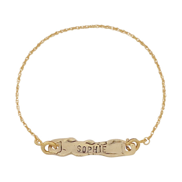 Personalised Bracelet - Gold