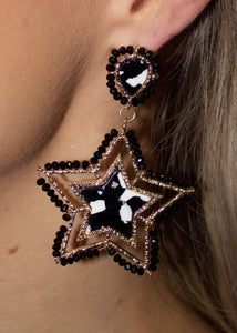 Acrylic Star Bead Earrings