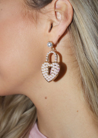 Pearl Lock Earrings