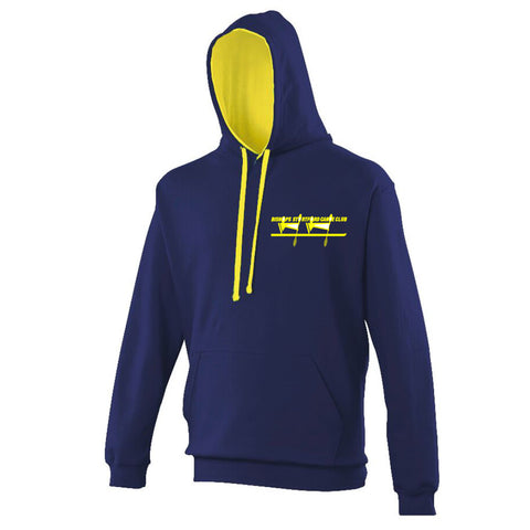 Bishops Stortford Canoe Club Hoodie - Navy/Yellow