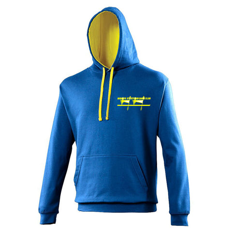 Bishops Stortford Canoe Club Hoodie - Royal/Yellow