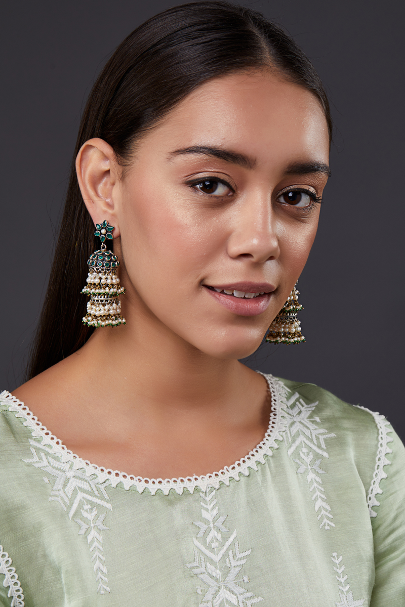 FLORAL JHUMKI EARRINGS
