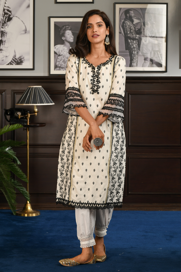 PIMA SATIN MERRY KURTA With Harem PANT