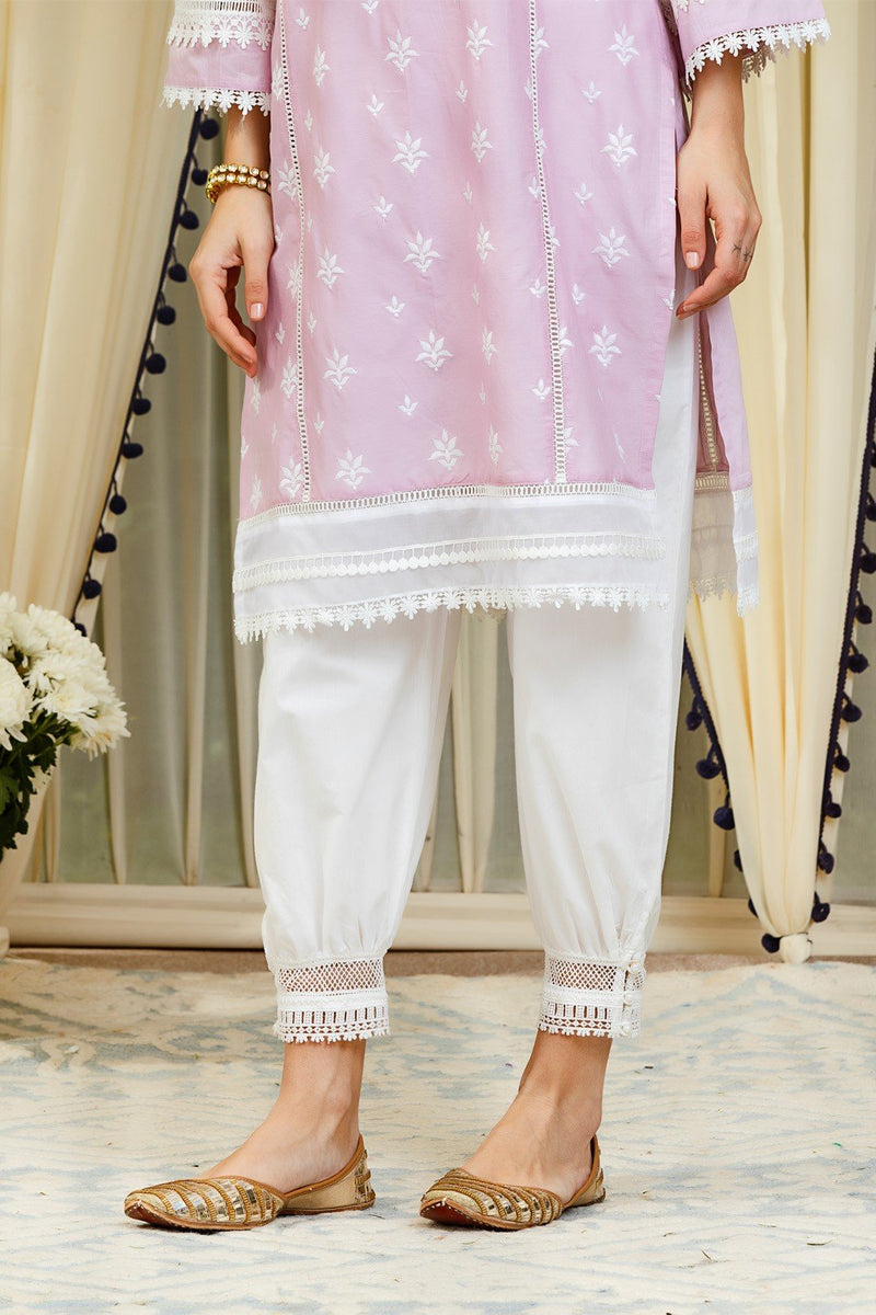 Mulmul Cotton Sandra Kurta With Harem Pants