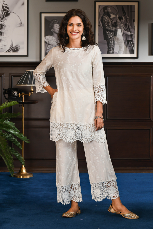 Pima Satin YUKI KURTA With YUKI PANT