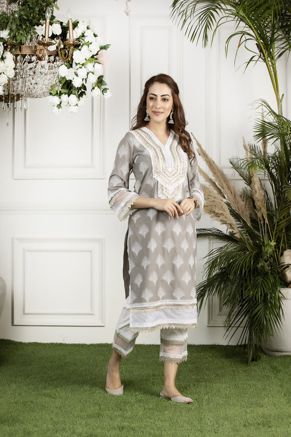 Mulmul cotton maple kurta