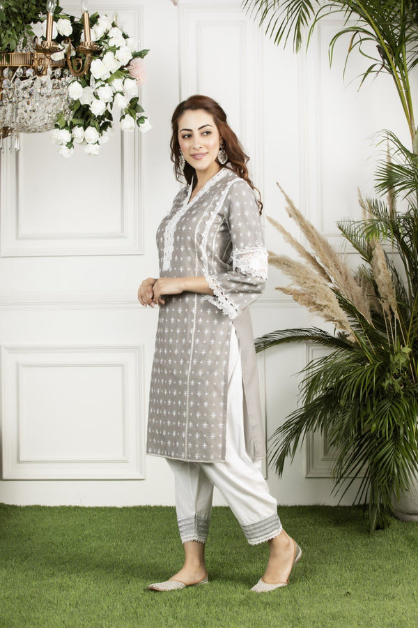 Mulmul cotton  winterberry kurta