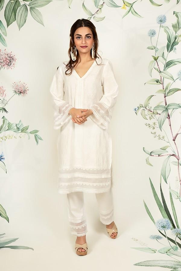 Thistle Kurta WHITE