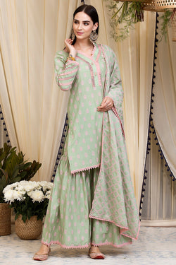 Mulmul Cotton Savina Kurta  With Savina Garara