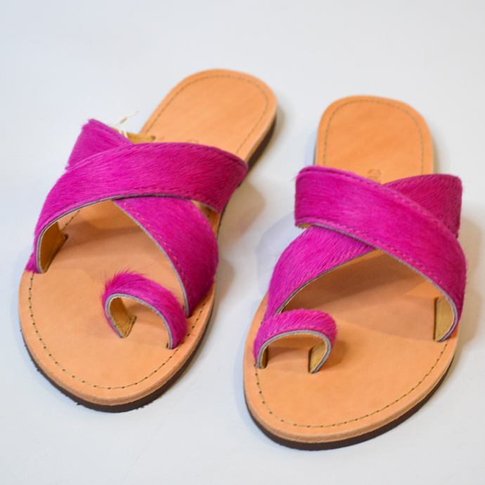 Greek Salad Hot Pink Sandals