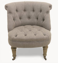 Load image into Gallery viewer, St James Soft Grey Curved Back Bedroom Chair