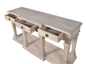 Imperial 3 drawer console table