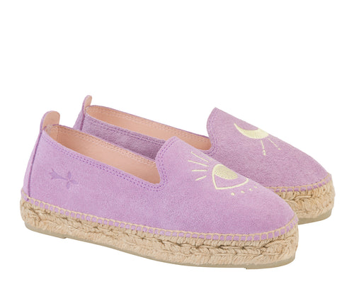 Manebi - lilac + yellow eye suede with embroidery; palm springs